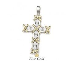 Крест с перекрестьями и камнями артикул: 5479