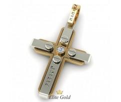 Мужской крести в стиле Baraka с камнем посередине артикул: 8507