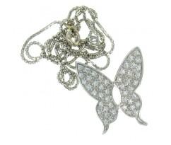 Подвеска в форме бабочки с бриллиантами артикул 5289