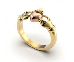 Кладдахское кольцо pink heart celtic