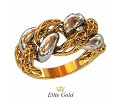 Подвижное кольцо Футура без камней с сеточкой артикул: 212430