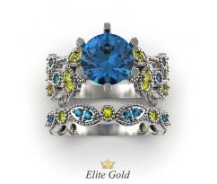 Ажурное кольцо - сет невесты с камнями артикул: 212630