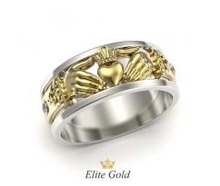 Кольцо ирландское руки держат сердце артикул: 2513