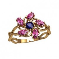 Кольцо в форме цветочка и плетением артикул: 2768