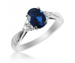 Кольцо на помолвку Кейт с овальным камнем артикул:4988