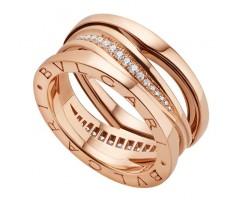 Кольцо в стиле Bvlgari Legend Ring с камнями артикул 5014