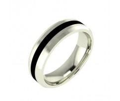 Авторское мужское кольцо с эмалью в центре артикул : 5035