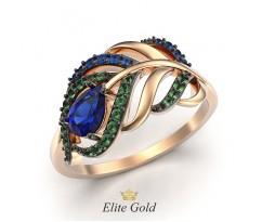 Женское кольцо в виде пера артикул: 10205151