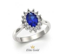 Кольцо на помолвку с овальным камнем посередине артикул:5172