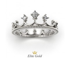 Авторское кольцо корона с тремя камнями артикул:5208