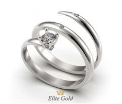 Кольцо в форме спирали Embrace с камнями артикул: 5239