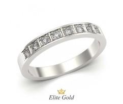 Тонкое женское кольцо с камнями артикул 5278