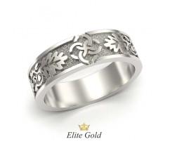 Кольцо с орнаментом без камней с матированием артикул 5306