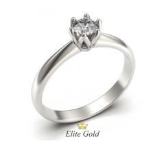 Помолвочное кольцо с центральным камнем артикул 5316