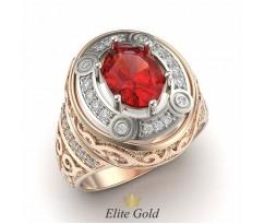 Кольцо в восточном стиле с камнем и узорами артикул: 5329