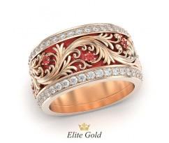 Ажурное кольцо с эмалью уникальное сочетание артикул:5333