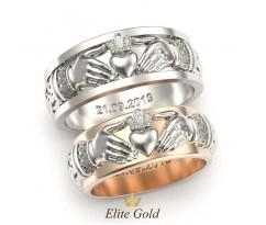 Ирландские кольца с рельефными элементами артикул: 5347