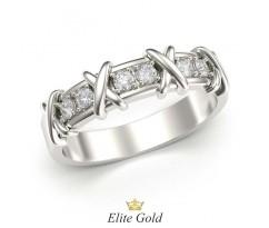 Кольцо женское с перекрестьями в стиле бренда Тиффани артикул:5363