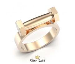 Кольцо в форме гантели с камнями по бокам артикул:5386