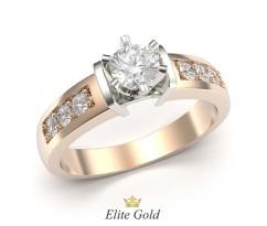 Кольцо на помолвку с высоким кастом артикул:5406