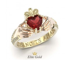 Ирландское кольцо с камнями и рукавами артикул: 5410