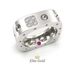 Авторское кольцо Pois Moi необычной формы с камнем внутри