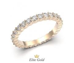 Женское кольцо с камнями по кругу артикул:5437