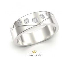 Авторское кольцо с пересеченными линиями и камнями артикул: 5451