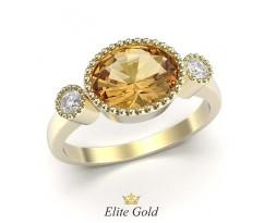Женское кольцо с большим овальным камнем винтажное артикул: 5485
