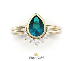 Составное кольцо с камнем груша посередине артикул:5486