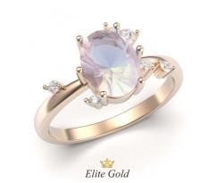 Кольцо на помолвку с опалом граненным артикул: 5489