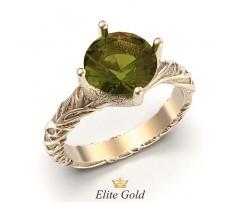 Фантазийное кольцо в стиле природы с камнем артикул: 5491