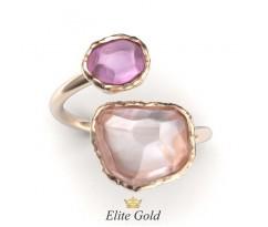 Винтажное кольцо под старину с камнями артикул: 5496