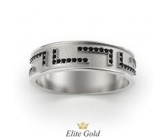 Кольцо с фигурными элементами и бортами артикул: 5643