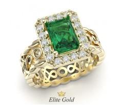Помолвочное кольцо в винтажном стиле с набором артикул:5807