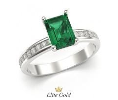 Женское кольцо с камнем на высокой основе артикул: 5887