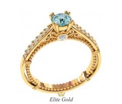 Кольцо в винтажном стиле на помолвку с камнями артикул:6090