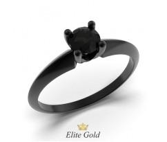 Кольцо Черный Лебедь с чернением и черным камнем артикул:6110