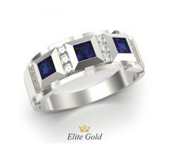 Кольцо с тремя квадратными камнями артикул: 6145