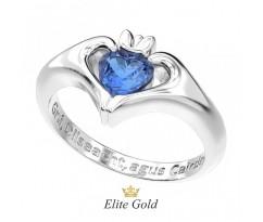 Ирландское кольцо руки держат камень артикул: 8649