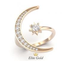 Кольцо в форме полумесяца и звезды артикул: 9324