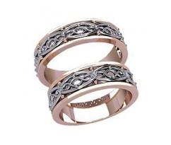 Обручальные кольца с узорами артикул:2040