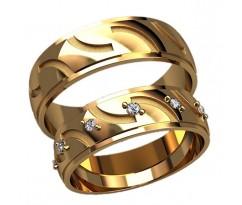 Парные оручальные кольца, ручная работа артикул: 2594 - пара