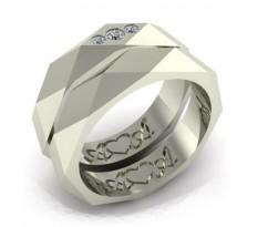 Обручальные кольца с ромбами артикул:4979