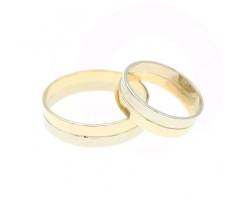 Сдвоенные обручальные кольца без камней артикул 4989