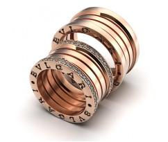 Обручальные кольца в стиле Bvlgari Zero 1 спирали артикул 5022