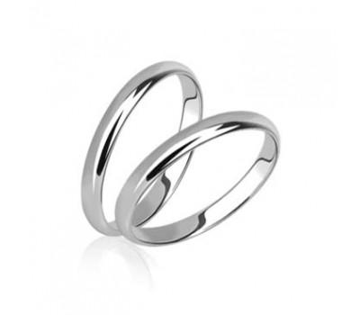 Гладкие обручальные кольца без камней артикул 5099