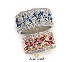 Обручальные кольца с виноградной лозой и арабскими буквами артикул 5264