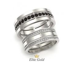 Обручальные составные кольца с камнями по ободку артикул 5303