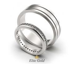Обручальные кольца Арделис женское тонкое с камнями артикул 5309